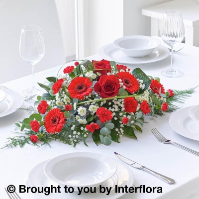 Red Rose & Germini Centrepiece