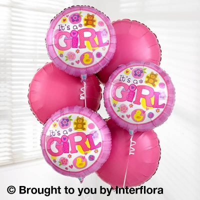 Baby Girl Balloon Bouquet Pack