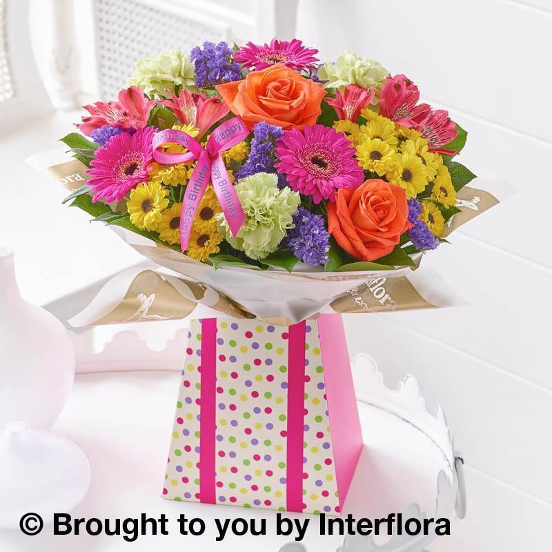 Happy Birthday Vibrant Gift Box With Balloon