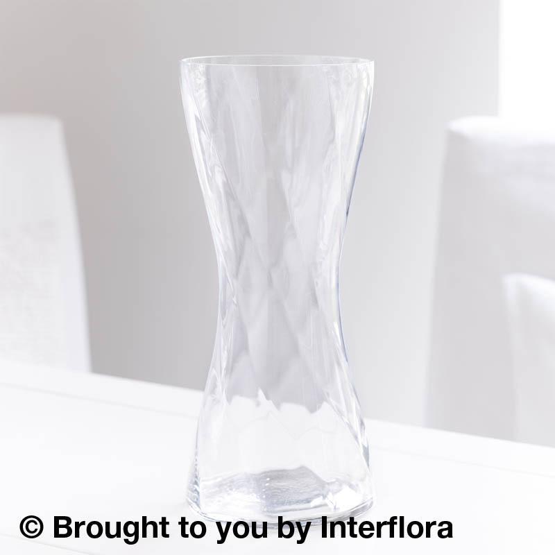 Tall Twist Clear Glass Vase Wadhurst Flowers Wadhurst East Sussex