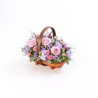 Large Mixed Basket   Pink and Lilac