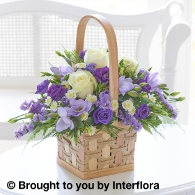 Scented Lilac & White Basket with Get Well Balloon